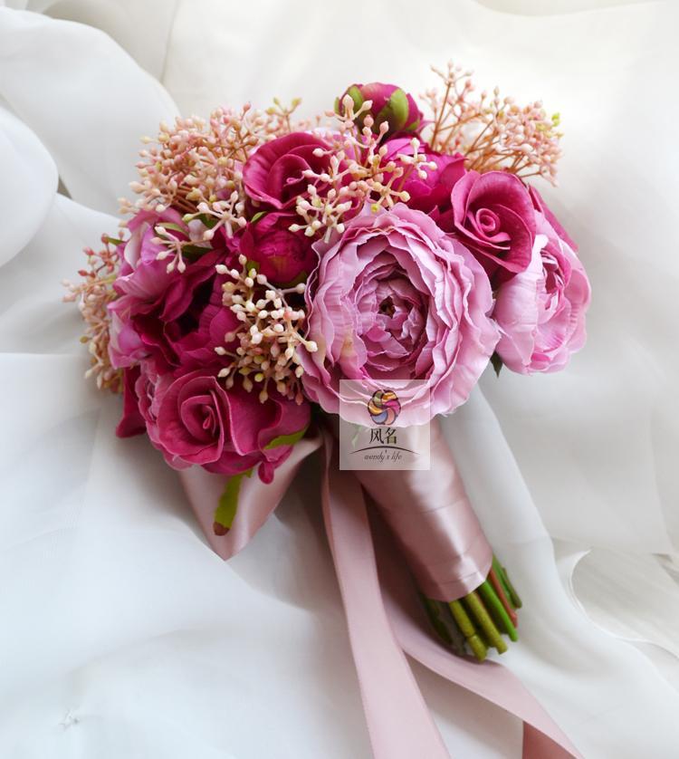 Ivoire artificielle calla lily fleurs de mariage en mousse sur bras bouquet DEMOISELLE D/'HONNEUR NEUF