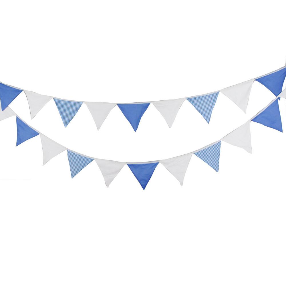 ღ Ƹ̵̡Ӝ̵̨̄Ʒ ღ1 unids 5.5 m 24 banderas azul blanco simple de la ...
