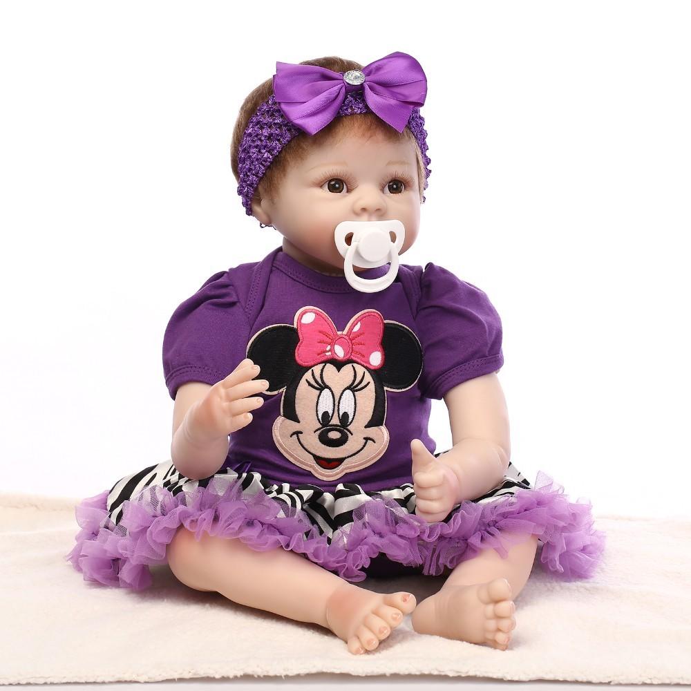 ₪22 дюймов 55 см <b>Reborn Baby Doll</b> Реалистичная из мягкого ...