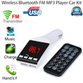 2016 hot sale fashion Bluetooth Wireless FM Transmitter MP3 Player Handsfree Car Kit USB TF SD
