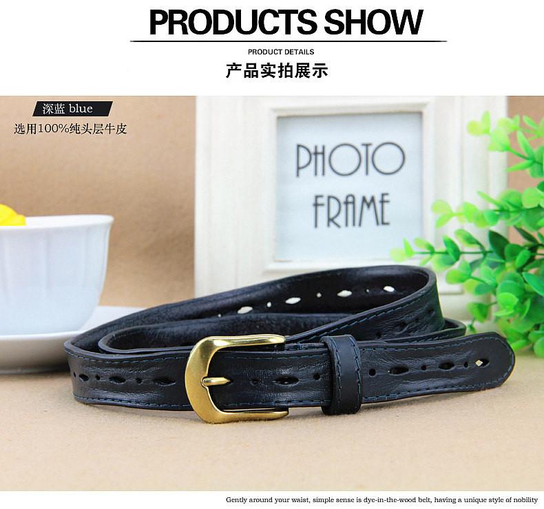 MS ceinture en cuir mode casual tête couche vachette ceinture contracté  ardillon ceintures 76fc50373a4