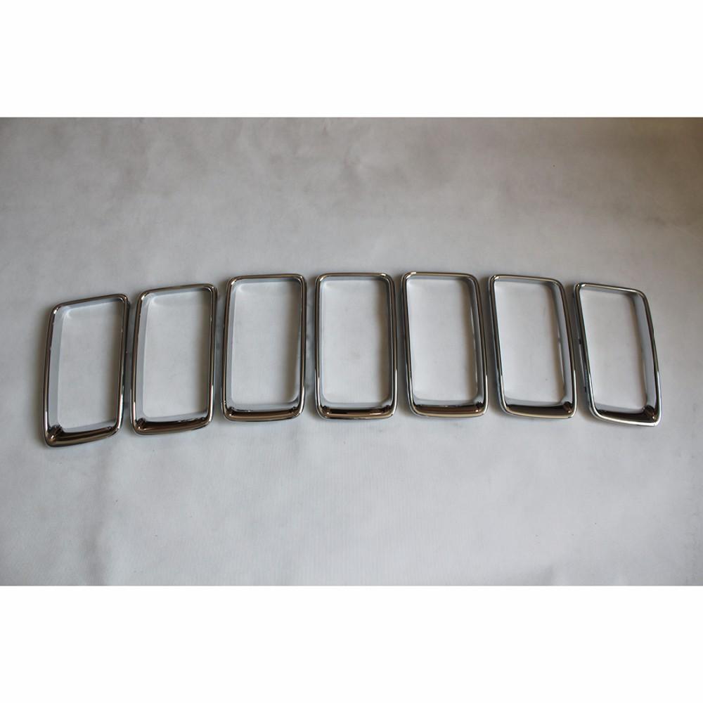 ᐅWotefusi Chrome Front Grille Vent TRIM cubierta anillo para jeep ...