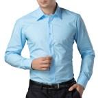 Blue and White Dress Shirt for Men