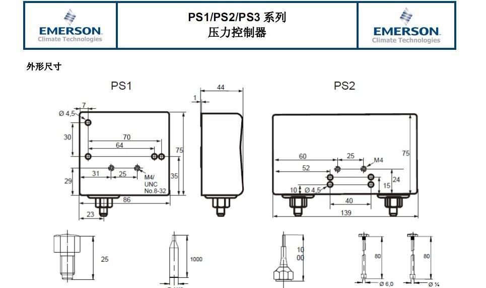 ALCO Emerson pressure controller PS1 X4A high pressure