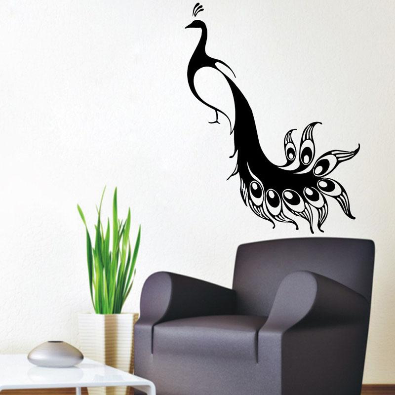 Popular Peacock Wall Decal