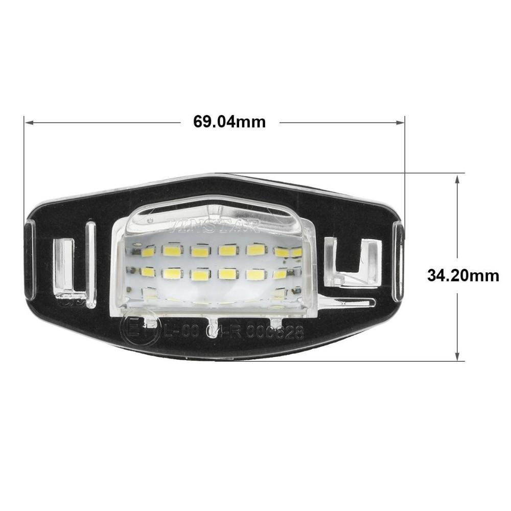 ᓂSuper brillante 18-SMD OEM reemplazo LED Marcos de matrícula luz ...