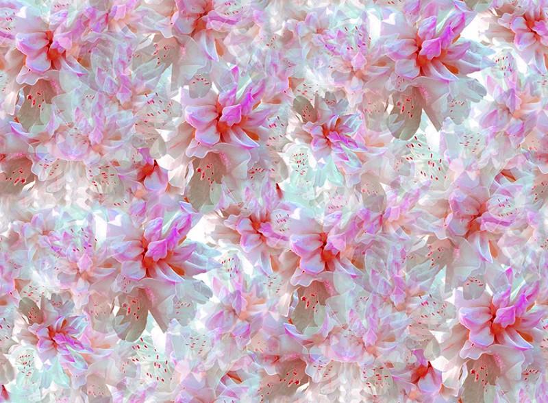4M Organza  Imprimé Fleurs   largeur 150cm tissu souple fluide