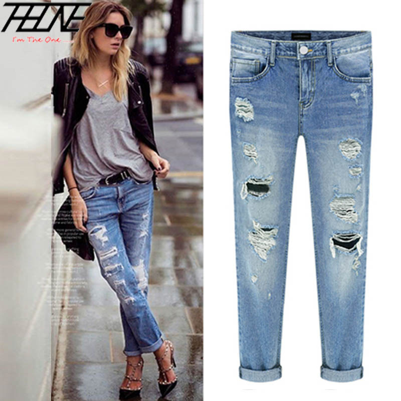 Womens Jeans With Holes Ye Jean