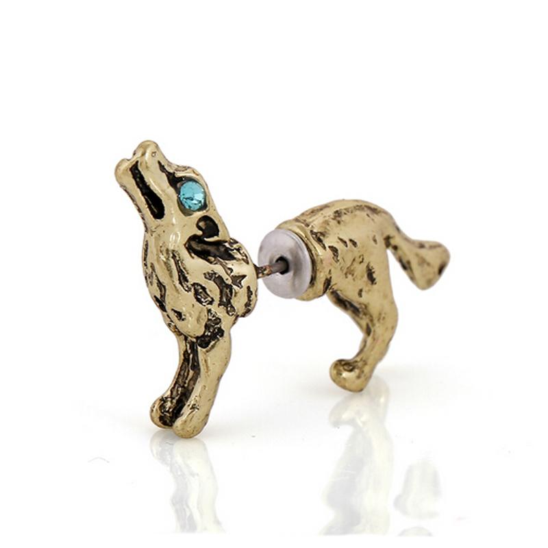 Popular Mens Wolf Earrings