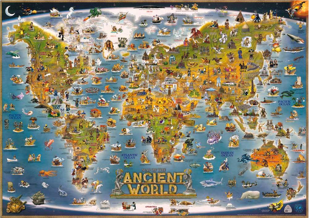 62b6d63cd3 ᗛVintage antigo Mapa do mundo Pintura A Óleo Pintura A Óleo Da Lona ...