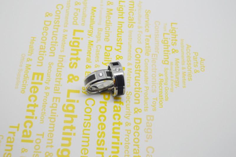 ᗑEnvío gratis negro resina y solo cz size6-14 tungsten anillo de ...
