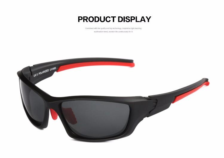 MXNET Lunettes de cyclisme pour hommes, Lunettes de soleil polarisées volantes classiques Lunettes de soleil UV400 Protection ( Couleur : Red+green )