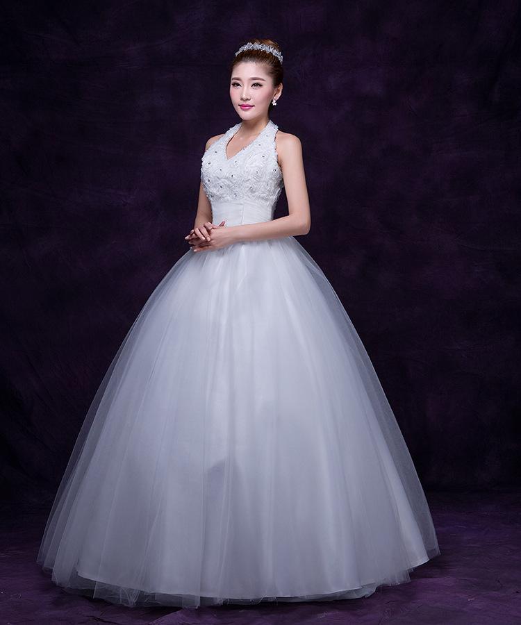 2015 Fashion Voile Ball Gown Wedding Dress Sexy Elegant