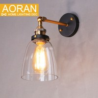 Vintage wall light glass wall lamp 110V 220V bedroom wall ...