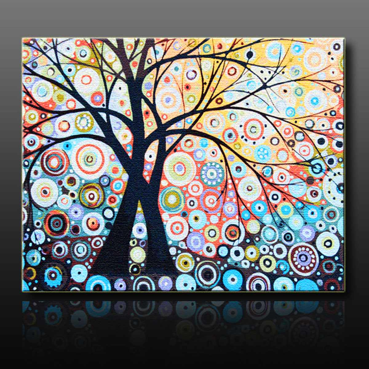 Home House Decorate Magic New Diy Paint By Number 16x20inch Kit Abstract Tree On Canvas Cool Boy