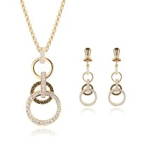 African Jewelry Sets 18k Gold Plated Austrian Crystal ...