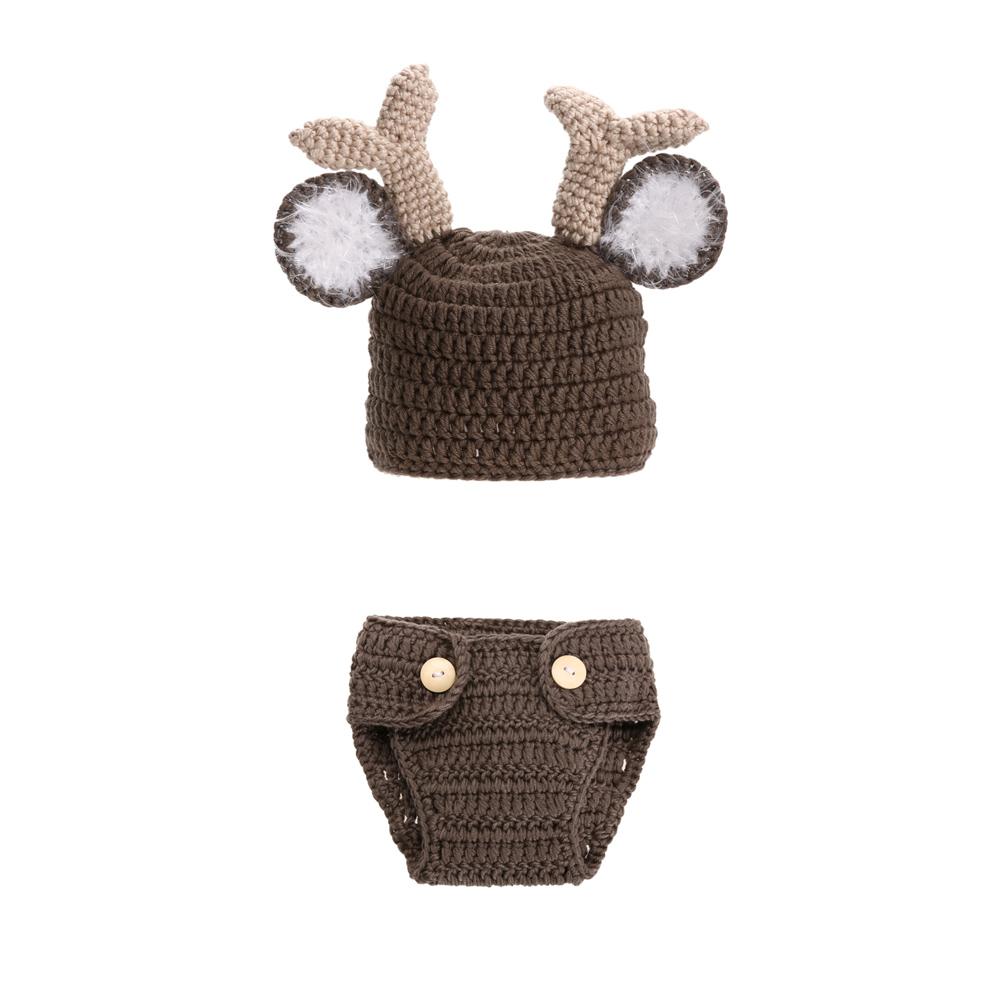 ∞Ciervos conjunto diseño bebé recién nacido a mano traje de dibujos ...