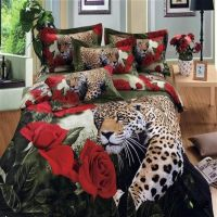 new luxury animal print bedding set queen size 3d flower ...