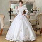 Winter Wedding Dress Formal 2014 Bride Fashion Long