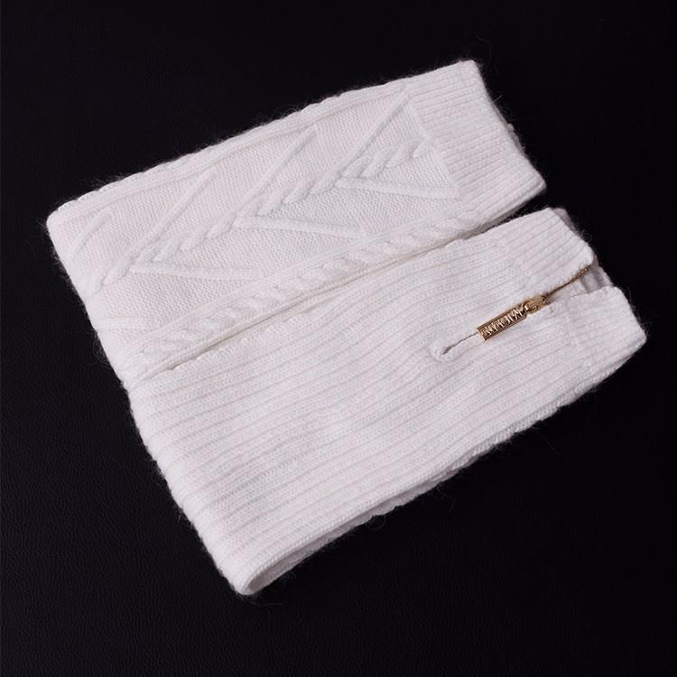 ̿̿̿(•̪ )11 colores tejer lana Calentadores para piernas cremallera ...