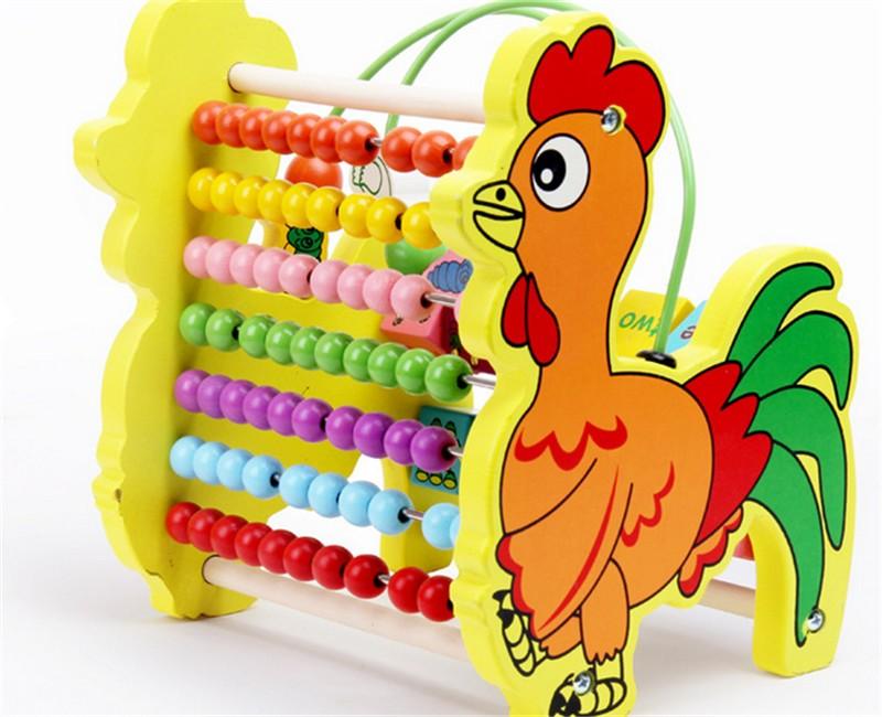 웃 유Nuevo juguete de madera caja de color colorido marco Ábaco de ...