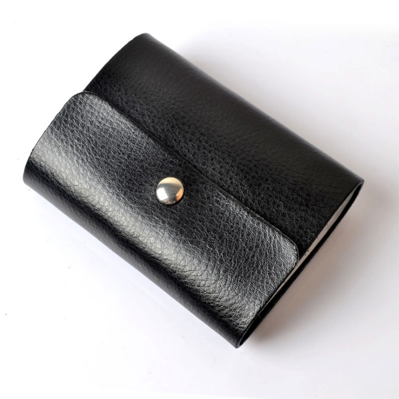 Genuine leather card holder mens business cards holder women id genuine leather card holder men colourmoves Image collections