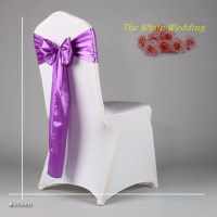 100 Cheap Lavender Satin Chair Sashes For Wedding Chair ...