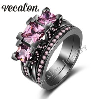 Aliexpress.com : Buy Vecalon Black Gold Filled Women ...
