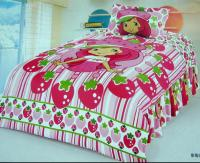 Strawberry shortcake bedroom comforter set twin bedding