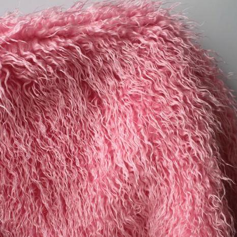 Achetez En Gros Rose Fourrure Tissu En Ligne Des