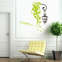 Street Light Flower Vine Wall Decals, Children's Room