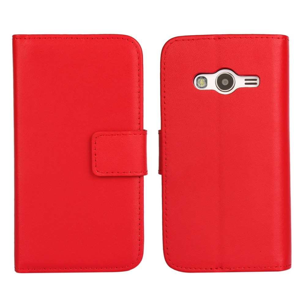Nfor Samsung Galaxy Ace 4 Lte Case Cover Genuine Leather Flip Cases Cassing Casing Housing G313 G313h V Fullset Product Package List 1one For 2one Phone Holder Our Company And Factory