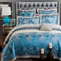 Home Textile Fashion bedding Romantic Blue luxury silk ...