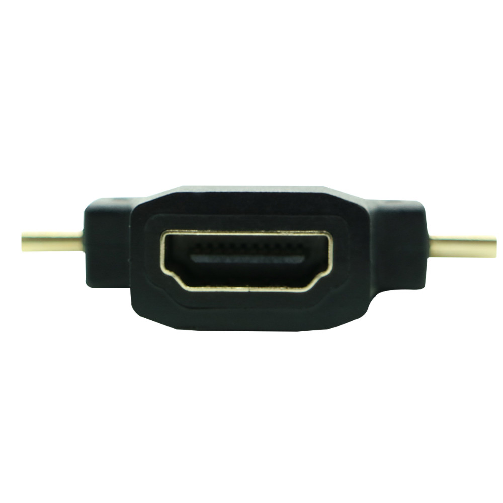 3 In 1 Micro Hdmi Mini Male To Adaptor V14 Kabel 3in1 Female 90 Degree M F Combo Adapter