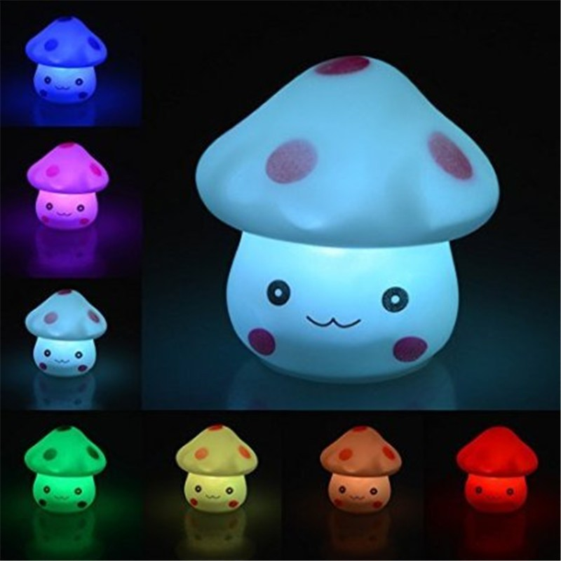 ( ^ ^)っ10 шт. x Популярные изменение 7 цветов <b>LED</b> грибы ...