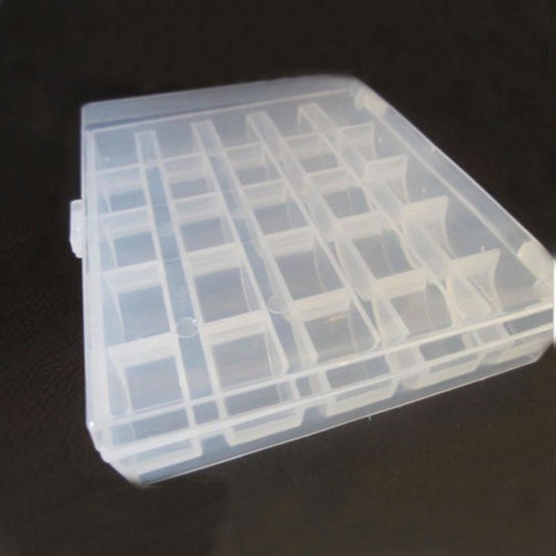 SAE Fortion Practical Plastic 25 Compartment Storage Box Case Bead