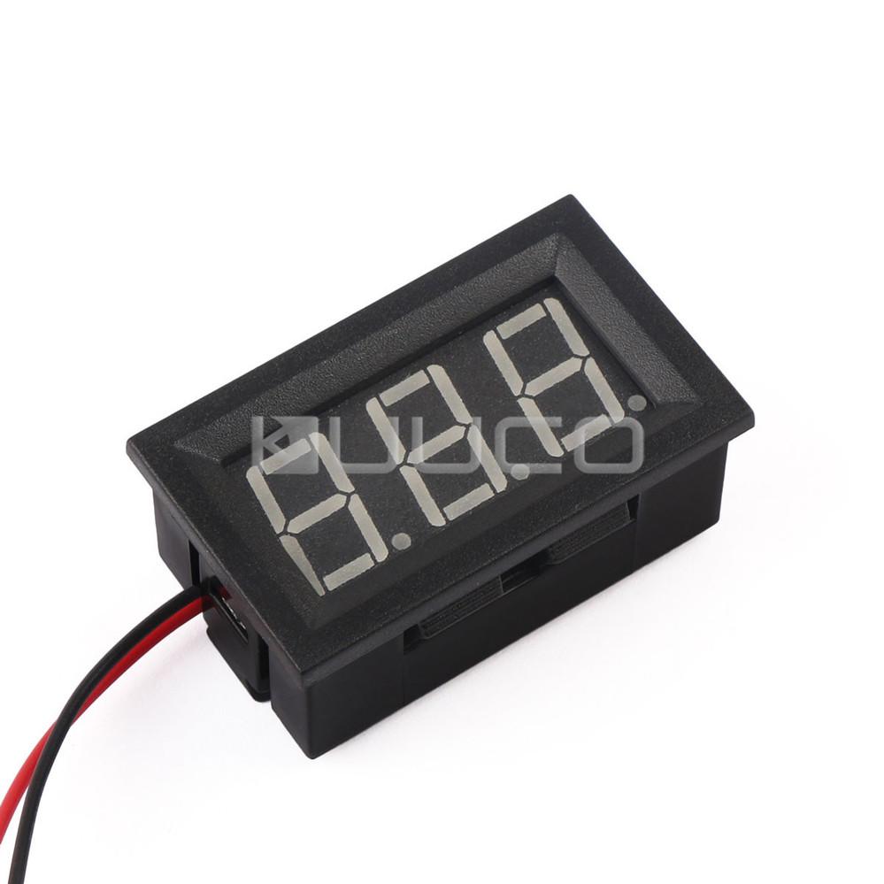 5 Pcs Lot Digital Voltmeter Dc330v Blue Led Voltage Panel Cr7 Green 2in1 Ammeter Dc 0100v 50a Current Meter Dual Display 12v 24v Volt Ampere Testerusd 850 Piece