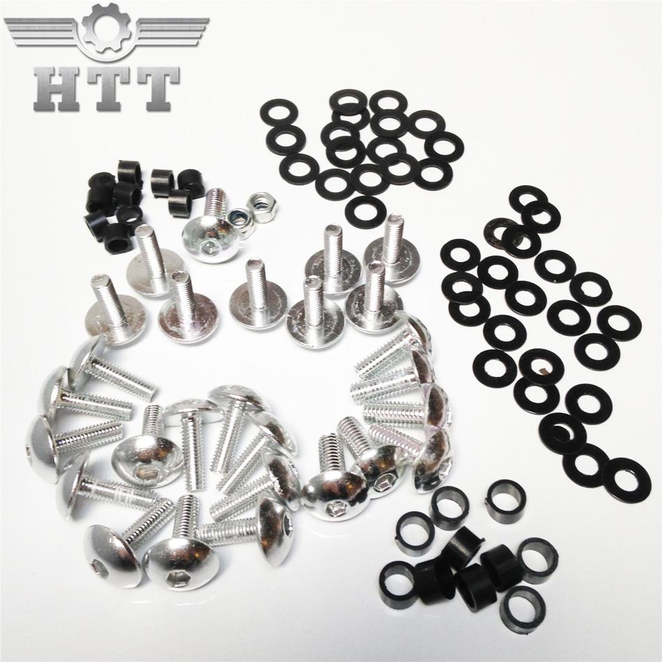 El envío libre de la motocicleta piezas de la motocicleta carenado tornillos kit para cbr 900rr 929rr 954rr rr plata