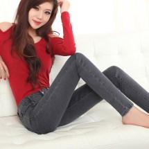 Female Barefoot In Blue Jeans Male Models
