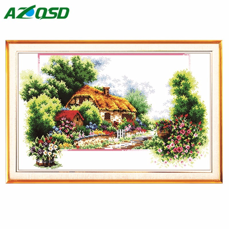 Cross Stitch Kit Counted Printed On Canvas11ct14ct Beautiful