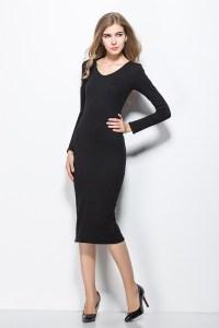 Mid Length Black Dresses   Cocktail Dresses 2016