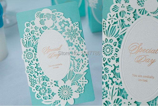 Mr Mrs Tiffany Blue Wedding Invitations