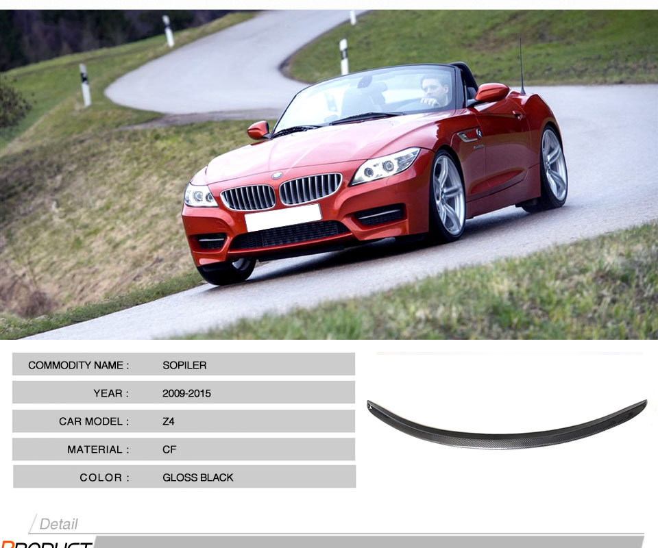 Bmw Z4 Update: ⃝2009-2016 Z4 Carbon Fiber 3D Style Rear Wing Lip Spoiler