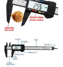 materiaal kunststof koolstofvezel bereik 0 150 mm nauwkeurigheid 0 1 mm meeteenheid inches millimeter resolutie 0 1 mm 0 01 inch [ 898 x 1472 Pixel ]