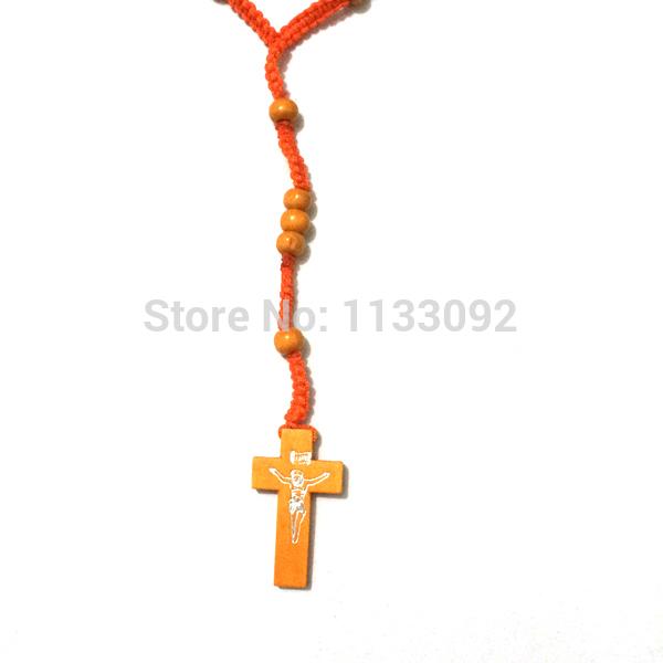 Ion Plaqué Noir Plaqué Acier Inoxydable 6 mm religieux Chapelet Collier Crucifix Cross Hommes