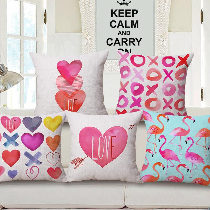 ᗚCorazón Día de San Valentín amor usted geométrico Fundas de