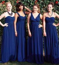 Popular Navy Blue Bridesmaid Dresses Different Styles-Buy ...