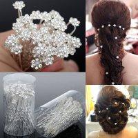 Rhinestone Diamante Hair Pins Clips Bridesmaid Women Hair ...