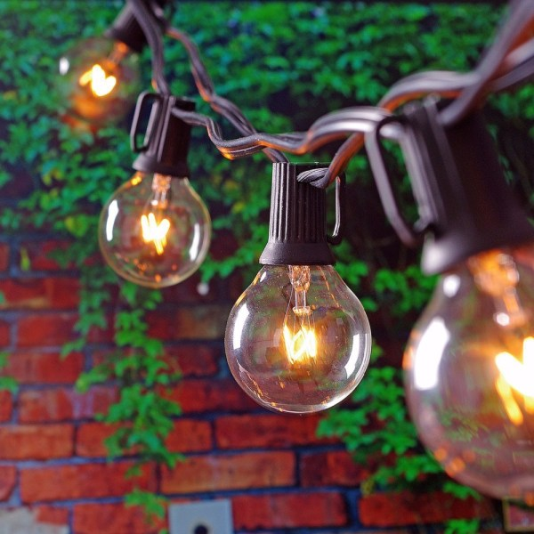 Outdoor Globe String Lights Patio
