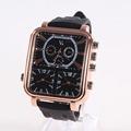 Fashion Leather luxury brand Men Watches Relogio Masculino Cheap Quartz Wristwatches Popular big dial rectangle Sport